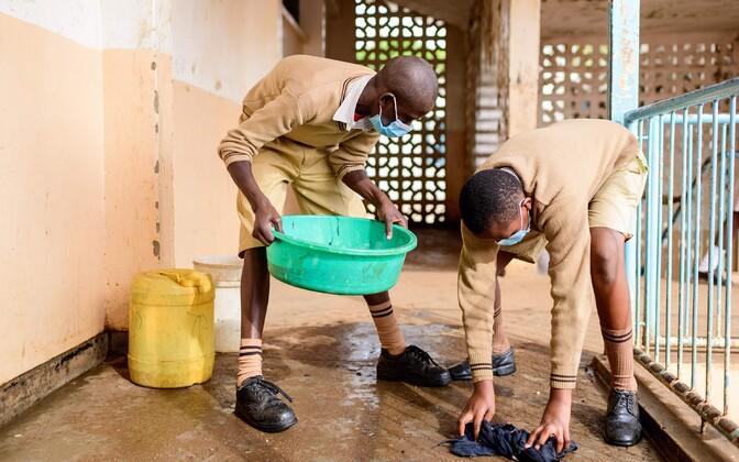 Koroonaviiruse ohutusnõuete järgimine Keenias