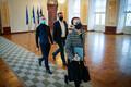 Кейт-Пентус Розиманнус на коалиционных переговорах.
