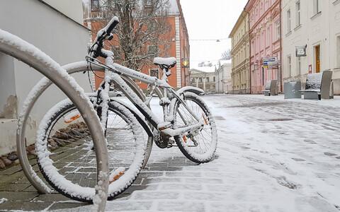 Jalgratas Rüütli tänaval Tartus.