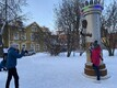 Памятник Яаку Йоале в Вильянди, 16 января 2020 г.