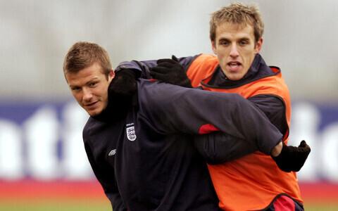 Phil Neville (paremal) ja David Beckham