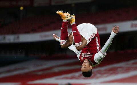 Arsenali eest kaks väravat löönud Pierre-Emerick Aubameyang