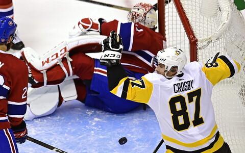 Sidney Crosby viskas Pittsburgh Penguinsi võiduvärava