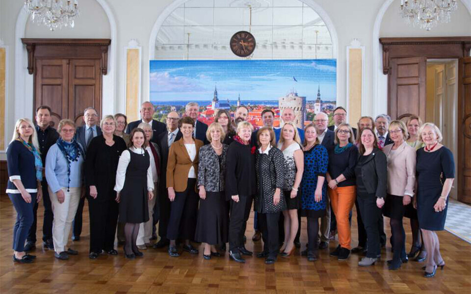 Estonian World Council (ÜEKN) at the Estonian parliament (September 2019)
