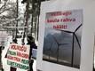 Протест против строительства ветропарка в Ристи.