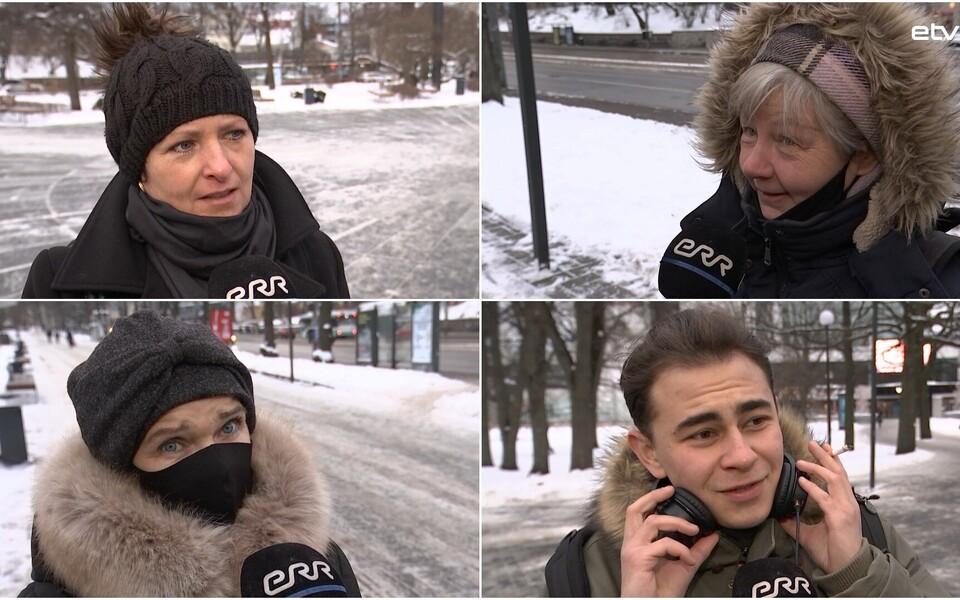 Опрос жителей Эстонии.