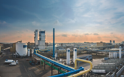 Linde industrial gas production plant in Leuna, Germany.