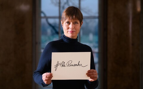 President Kersti Kaljulaid commerated International Holocaust Remembrance Day in a tweet.