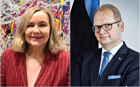 Else Berit Eikeland, Norra suursaadik Eestis ja Lauri Bambus, Eesti suursaadik Norras