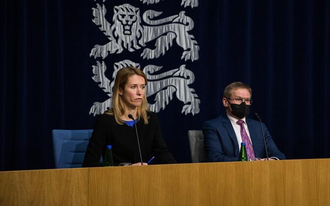 Otse kell 12: valitsuse pressikonverentsil Kallas, Aab, Kersna, Ott