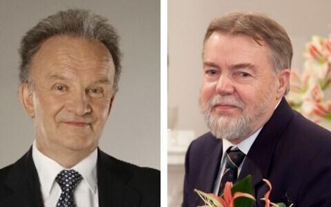 Teaduse elutööpreemia laureaadid Toomas-Andres Sulling ja Jüri Talvet.