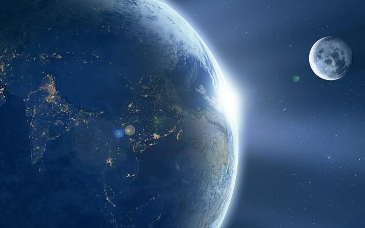 Земля и Луна.