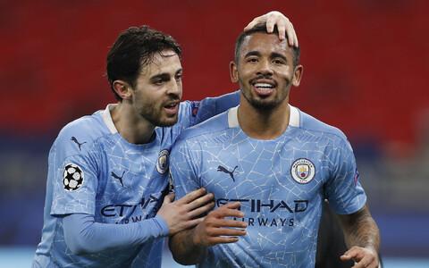 Manchester City väravad lõid kolmapäeval Bernardo Silva ja Gabriel Jesus