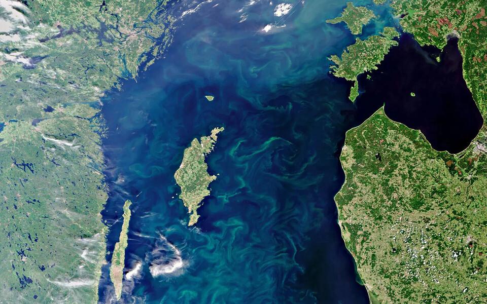 Vaade Läänemerele kosmosest.
