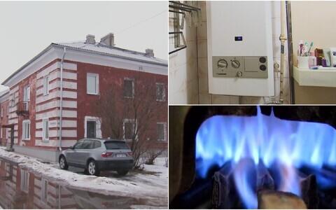 Газовые колонки в домах Нарвы.