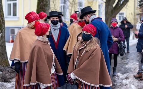 Independence Day celebrations in Pärnu on February 24, 2021.