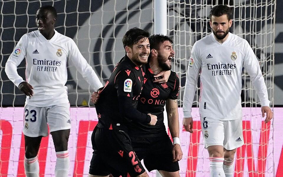 David Silva ja Portu Madridi Realile löödud väravat tähistamas