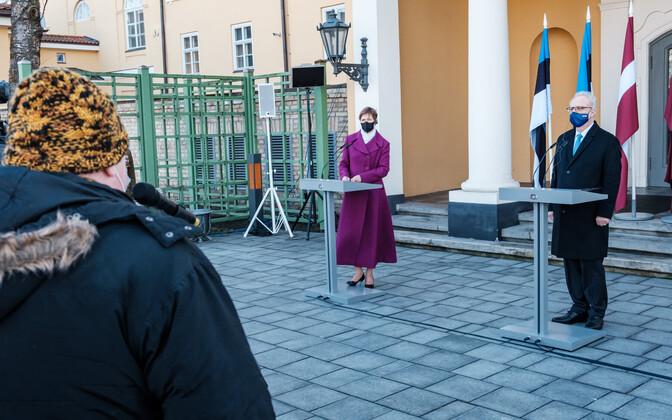 President Kersti Kaljulaid Riias.