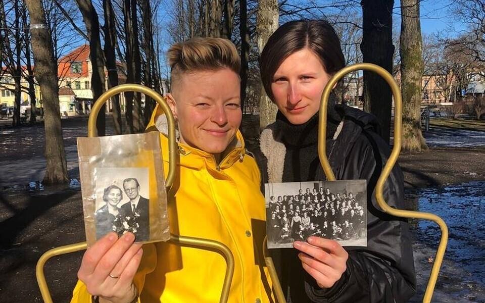 Barbara Lehtna ja Katrīna Dūka on koos kaaslastega inimeste lugusid kogunud juba mitu kuud.