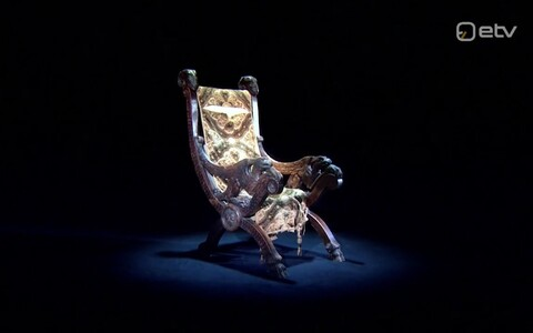 Väidetavalt Konstantin Pätsile kuulunud tool.