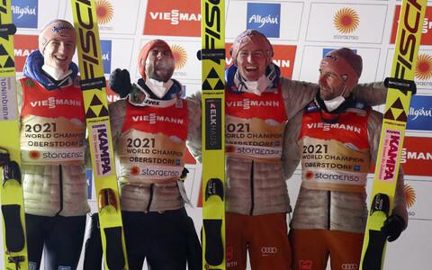 Oberstdorfis kulla võitnud Saksamaa suusahüppenelik