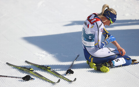 Frida Karlsson Oberstdorfi MM-i 30 km klassikasõidu finišis