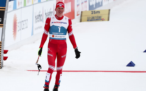 Aleksandr Bolšunov 50 km klassikasõidu finišis