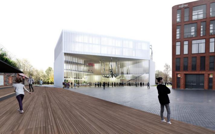 """Pärnu Kunstihoone (Pikk 14) arhitektuurivõistluse võitis Salto Arhitektuuribüroo töö """"Sisse""""."""