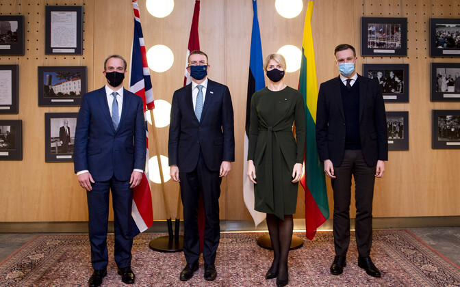 A meeting was held between the Baltic and UK foreign ministers in Tallinn on March 10.