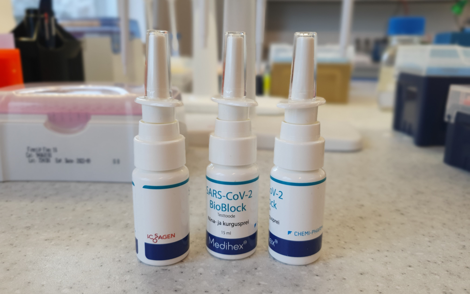 SARS-CoV-2 vastastel antikehadel põhinev nina- ja kurgusprei SARS-Cov-2 BioBlock.