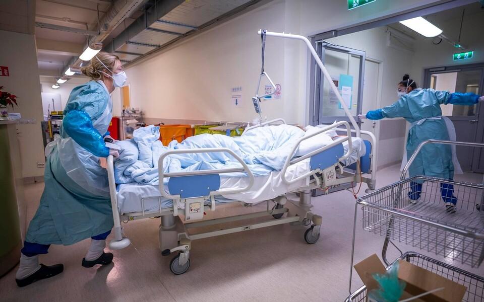 Северо-Эстонская региональная больница во время коронавирусного кризиса.