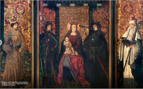 """Kuvatõmmis näitusest """"Neitsi Maarja"""" Google Arts & Culture platvormil."""