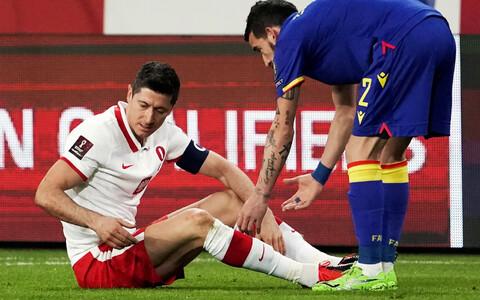 Robert Lewandowski sai Poola koondise MM-valikmängus Andorra vastu vigastada