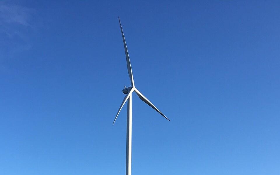 Ветрогенератор в Айду.