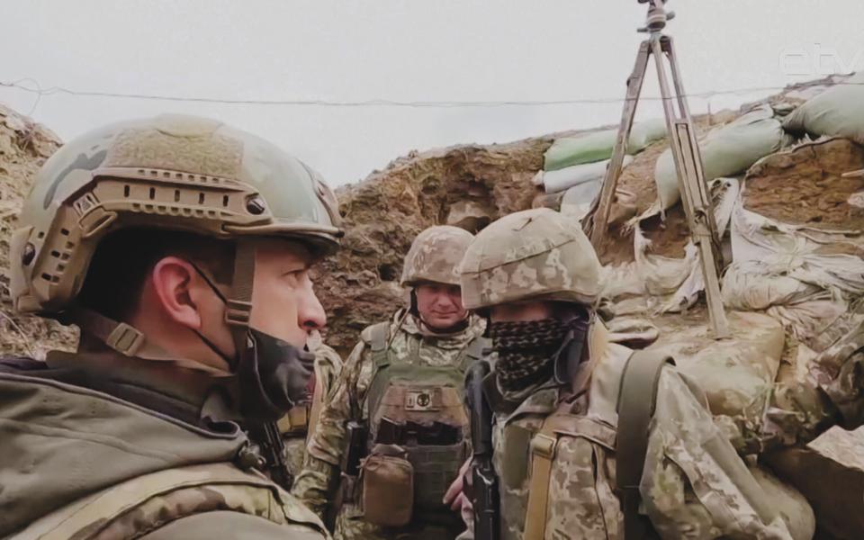 Владимир Зеленский на юго-востоке Украины.