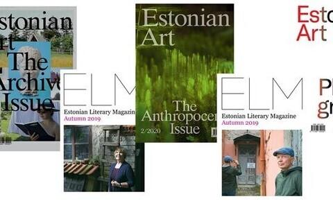 Valik ajakirjade Estonian Art ja Estonian Literary Magazine esikülgi.