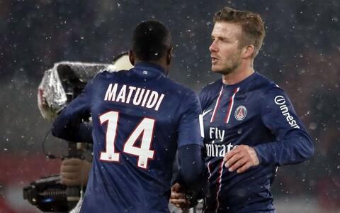 Blaise Matuidi ja David Beckham 2013. aastal mängimas Pariisi Saint-Germaini eest