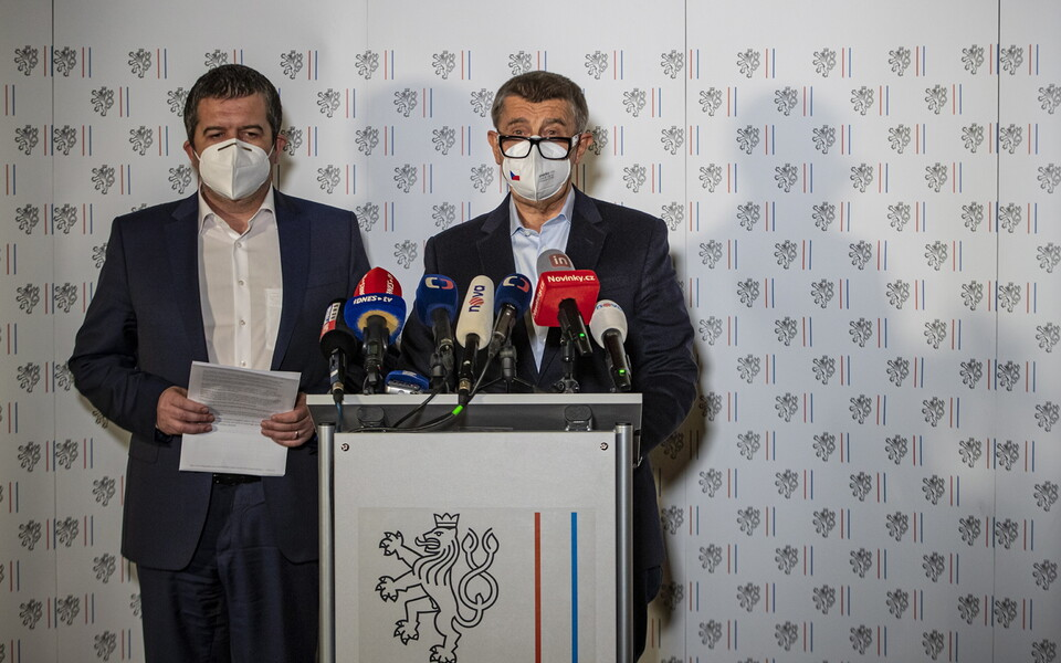 Министр иностранных дел Чехии Ян Гамачек и премьер-министр Андрей Бабиш.