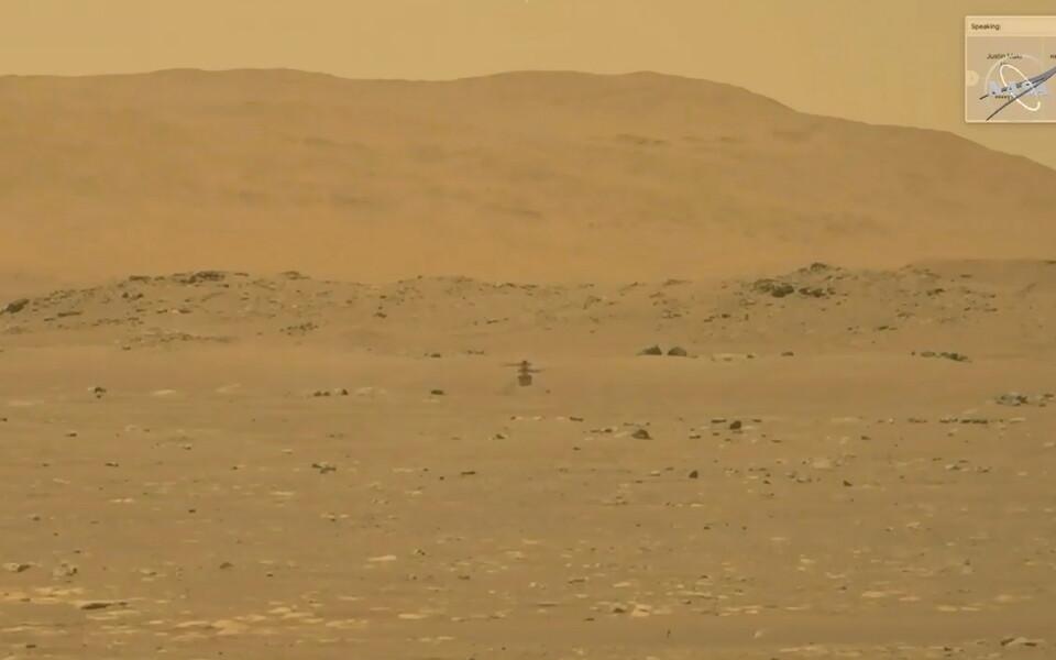 Первый полет Ingenuity на Марсе.