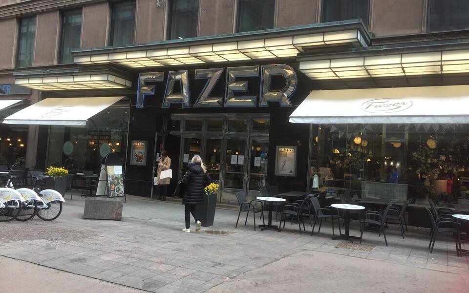 Кафе Fazer в Хельсинки.