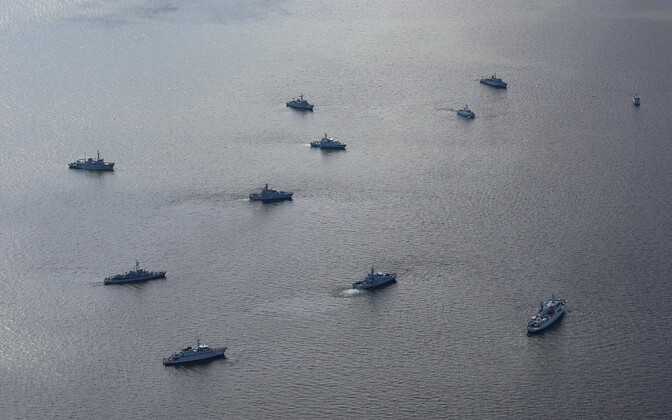 Naval vessels from Estonia and several other countries, involved in the two-week Operation Open Spirit 2021 mine-clearing endeavor.