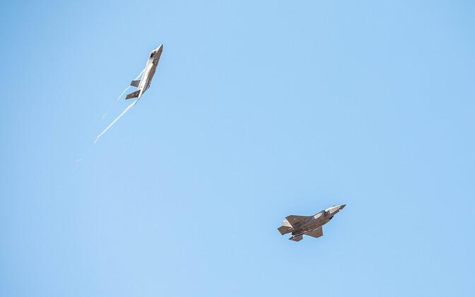 Italian Air Force F-35s arriving at Ämari.