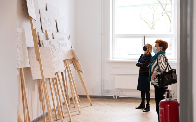 The spring exhibition at the Tallinn Art Gallery.