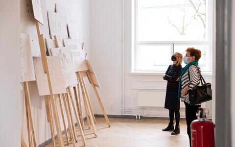 Весенняя выставка в Таллиннском доме искусства.