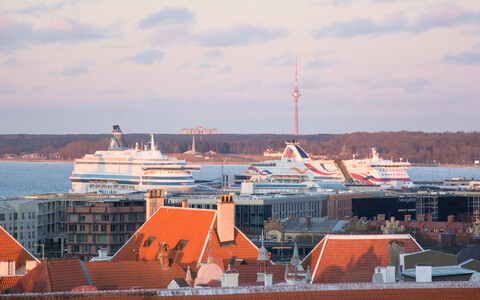 Ships in Tallinn.