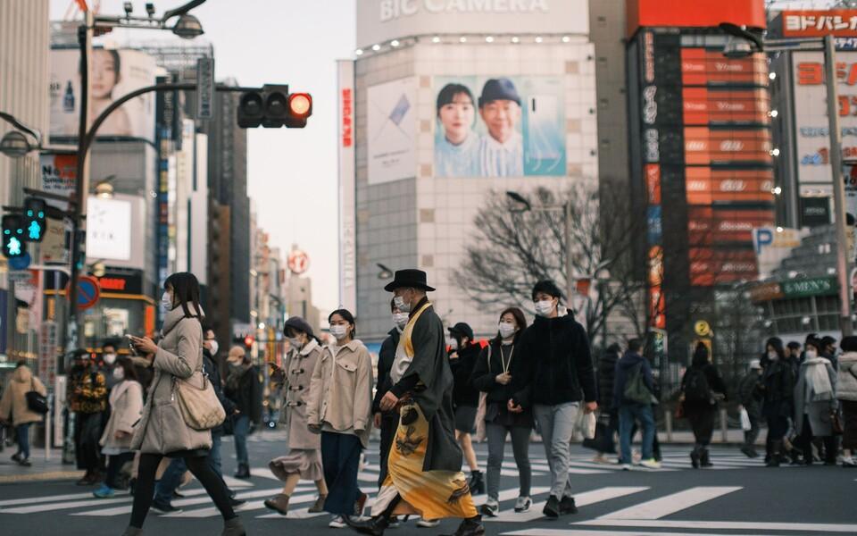 Maskikandjad Tokyo tänavatel.