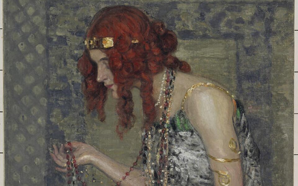 Janis Rozentāls. Printsess pärdikuga. 1913.