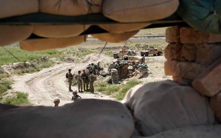 Американские и афганские военные в административном районе Нерх в Афганистане в 2019 году.