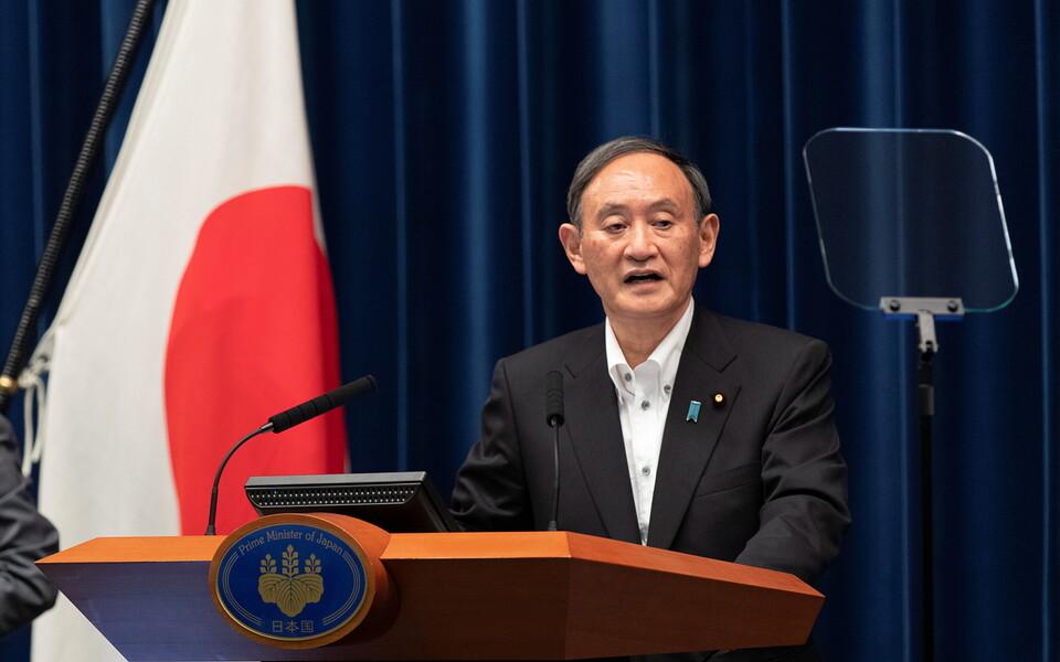 Jaapani peaminister Yoshihide Suga.