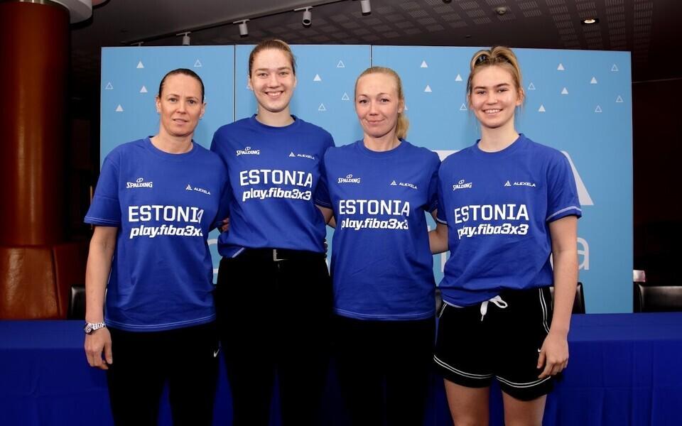 Eesti 3x3 korvpallinaiskond (Merike Anderson, Kadri-Ann Lass, Jane Svilberg, Anna Gret Asi).